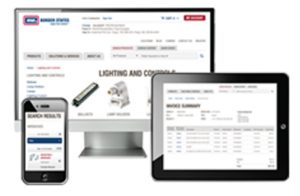 Border States eCommerce site shown on a computer screen and mobile devices