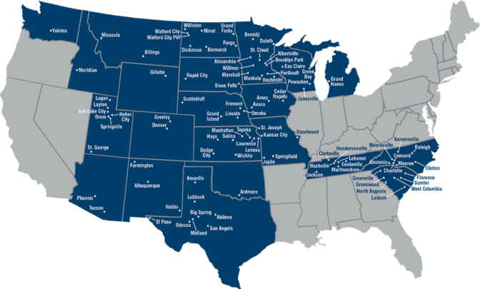 Map of Branch Locations